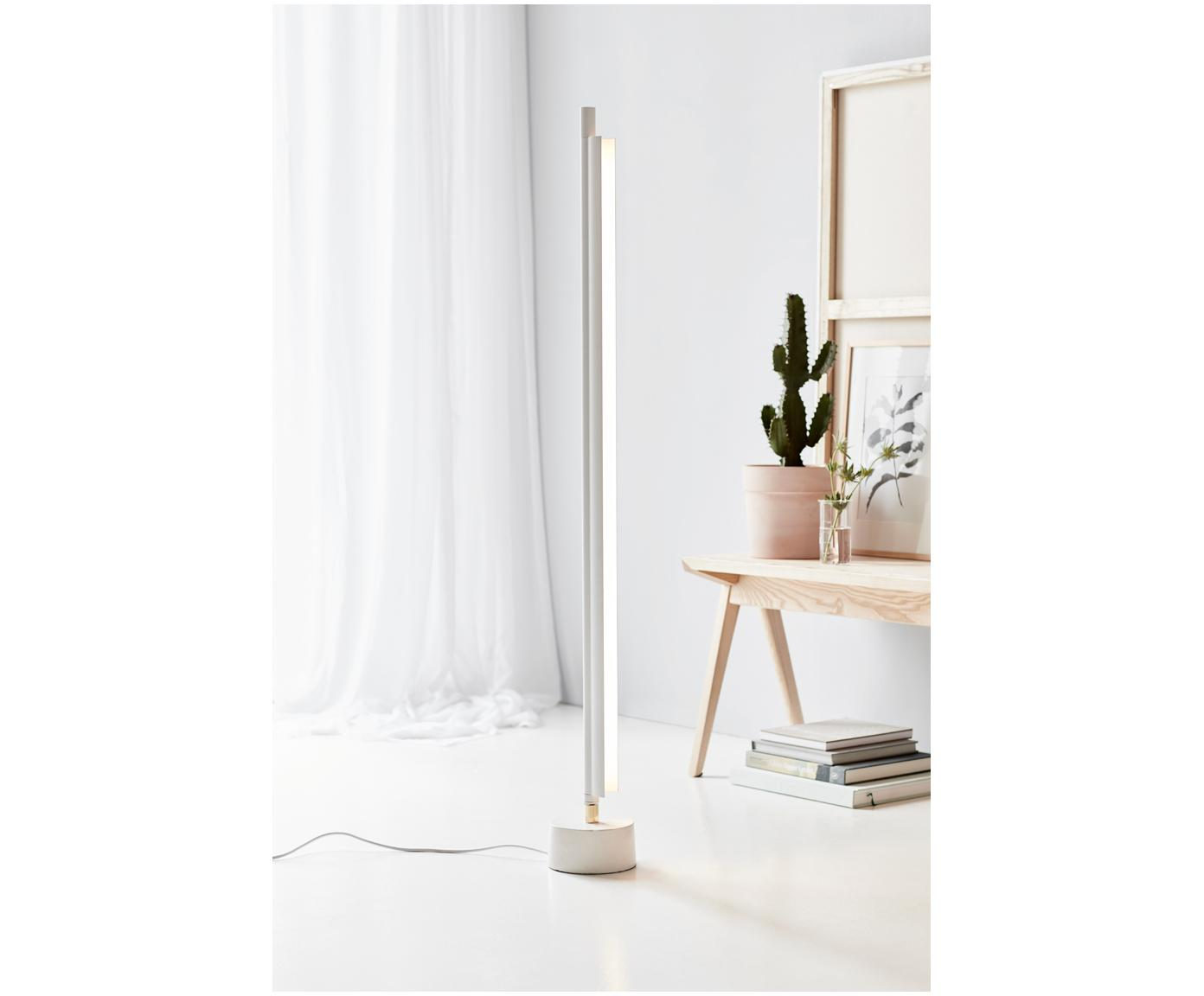 Lampa podłogowa LED z funkcją przyciemniania SpaceB, Biały, Ø 15 x W 128 cm