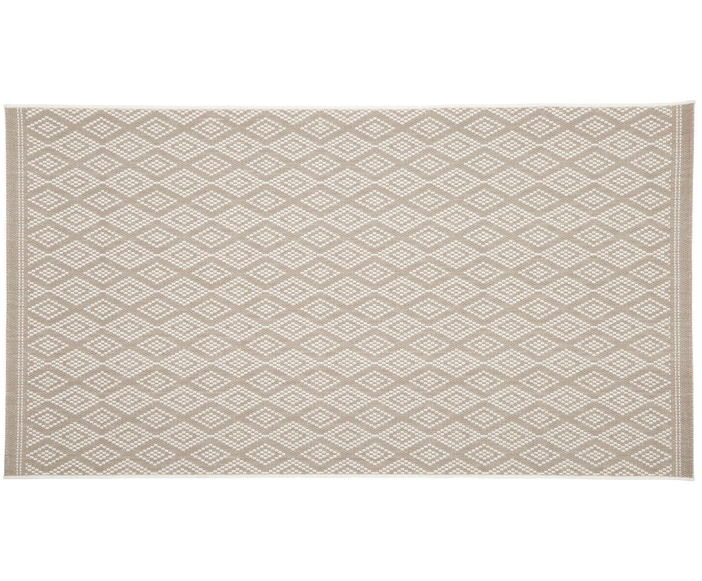 In- & Outdoor-Teppich Capri in Beige/Creme, Flor: 100% Polypropylen, Cremeweiß, Beige, B 80 x L 150 cm (Größe XS)