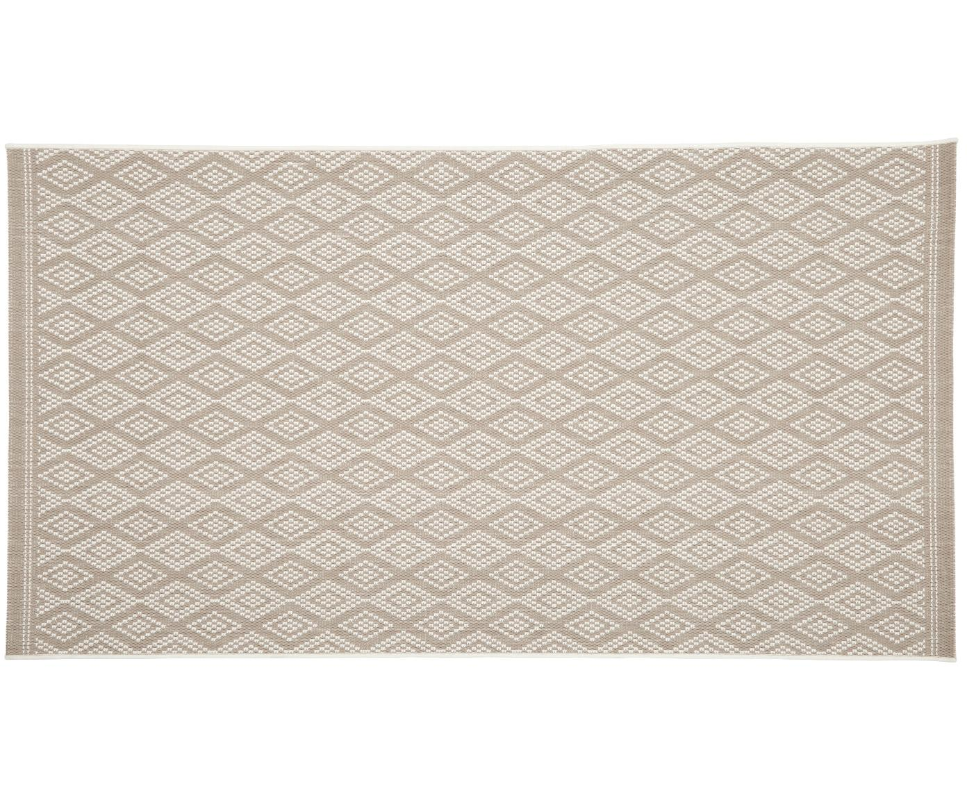 In- & outdoor vloerkleed Capri, Bovenzijde: polypropyleen, Onderzijde: polyester, Crèmewit, beige, B 80 x L 150 cm (maat XS)