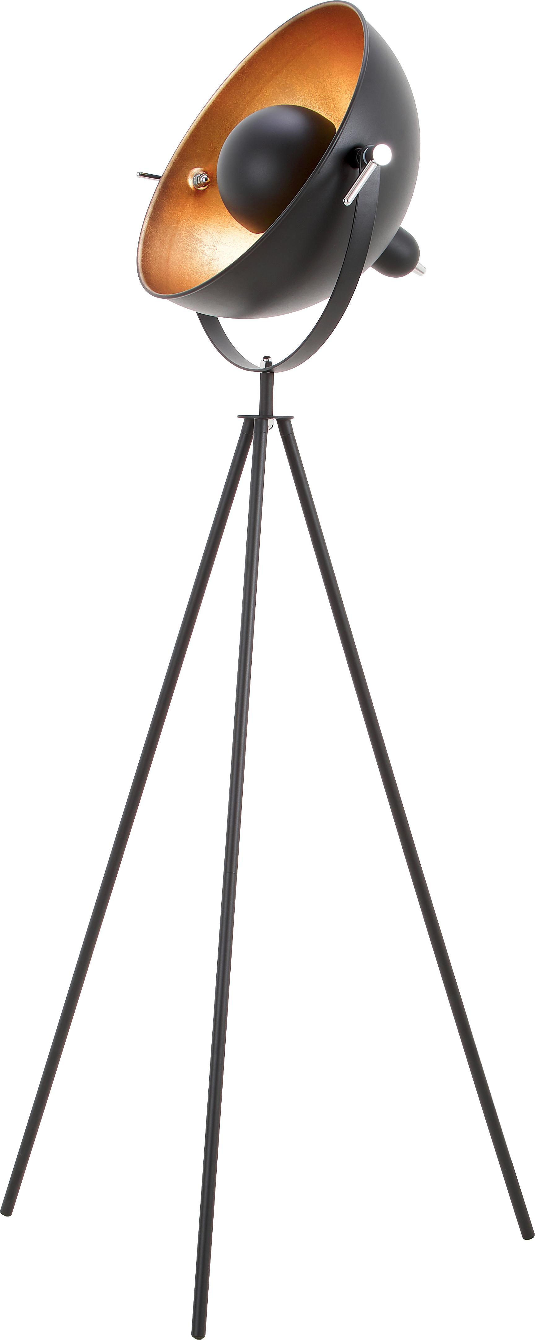 Lampada da terra industriale Captain, Nero, Ø 39 x Alt. 145 cm