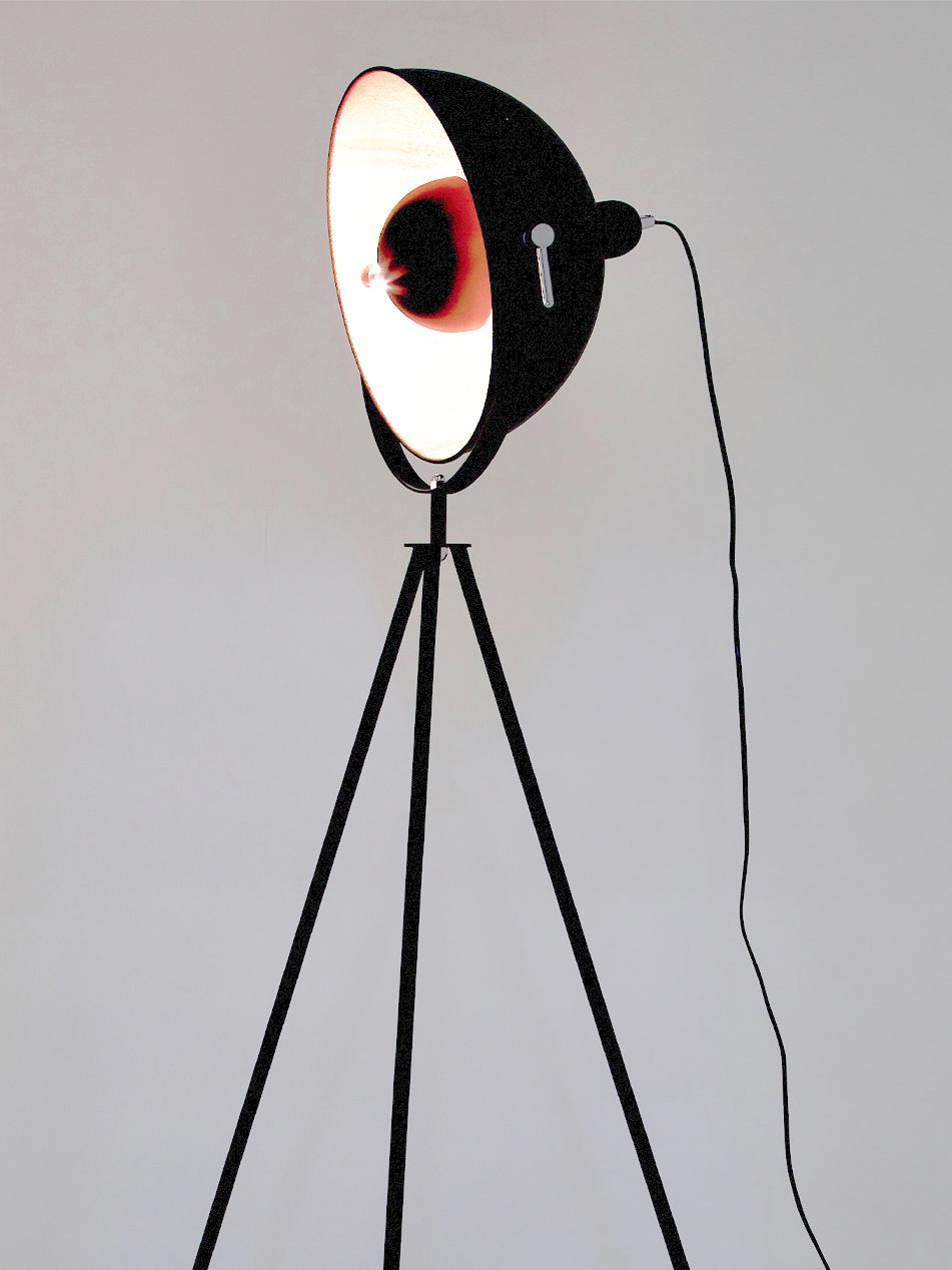 Industriële vloerlamp Captain, Zwart, Ø 39 x H 145 cm