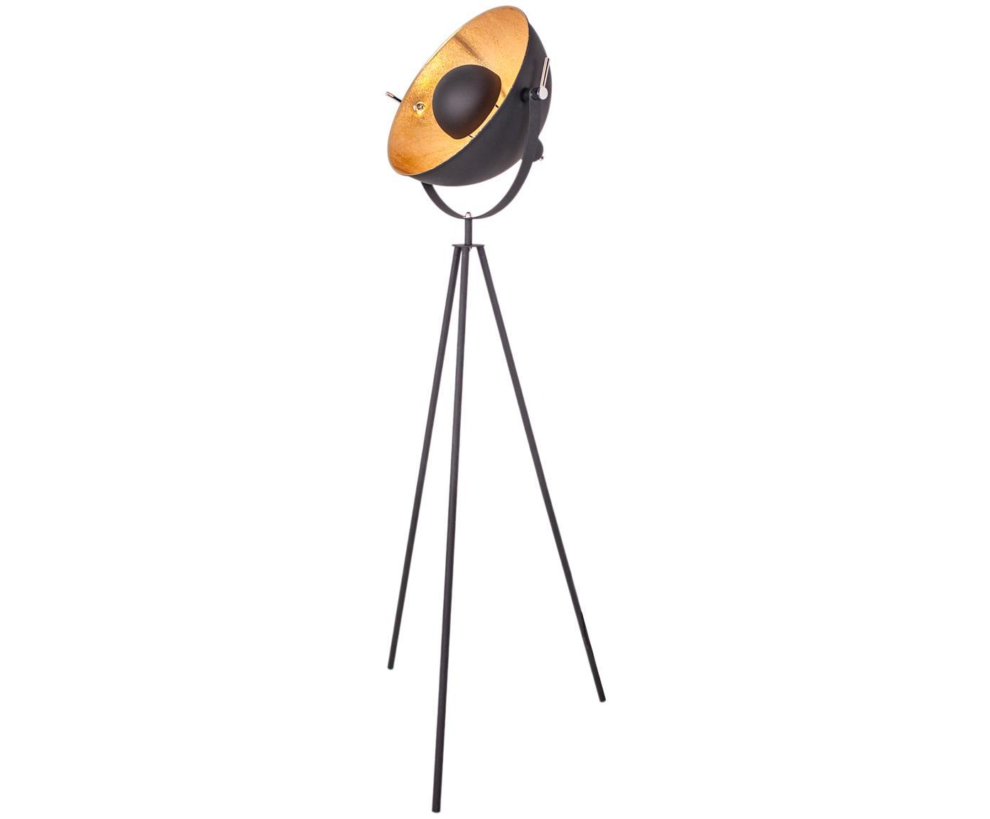 Lámpara de pie Captain, estilo industrial, Negro, Ø 39 x Al 145 cm