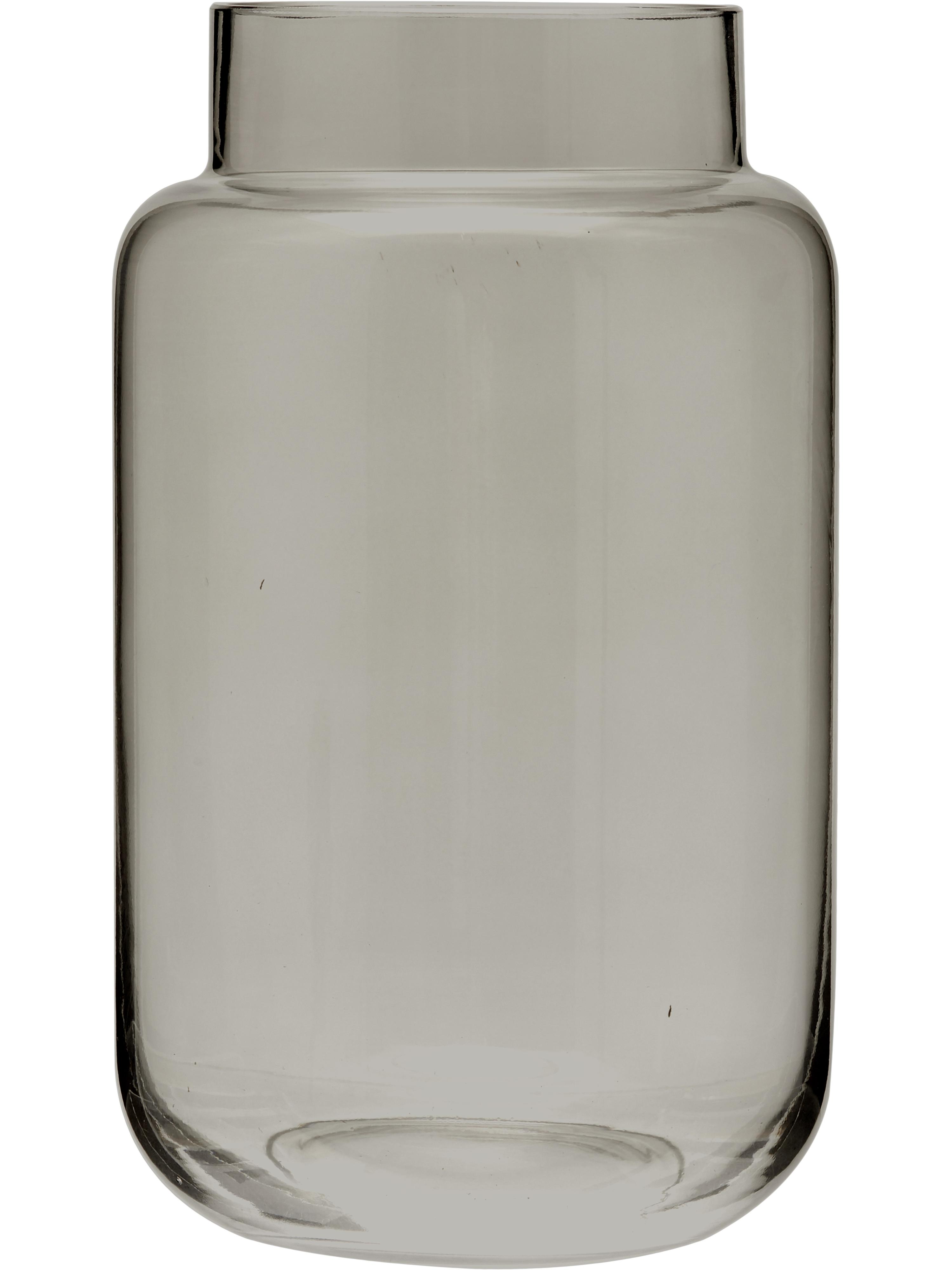 Glas-Vase Lasse, groß, Glas, Grau, transparent, Ø 13 x H 22 cm