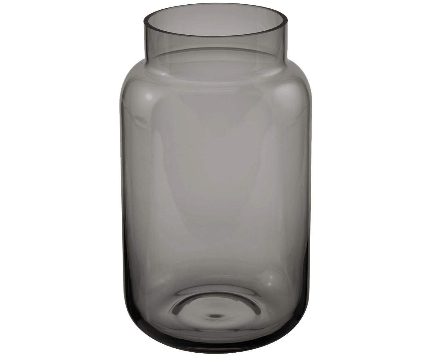 Glas-Vase Lasse, groß, Glas, Grau, transparent, ∅ 13 x H 22 cm