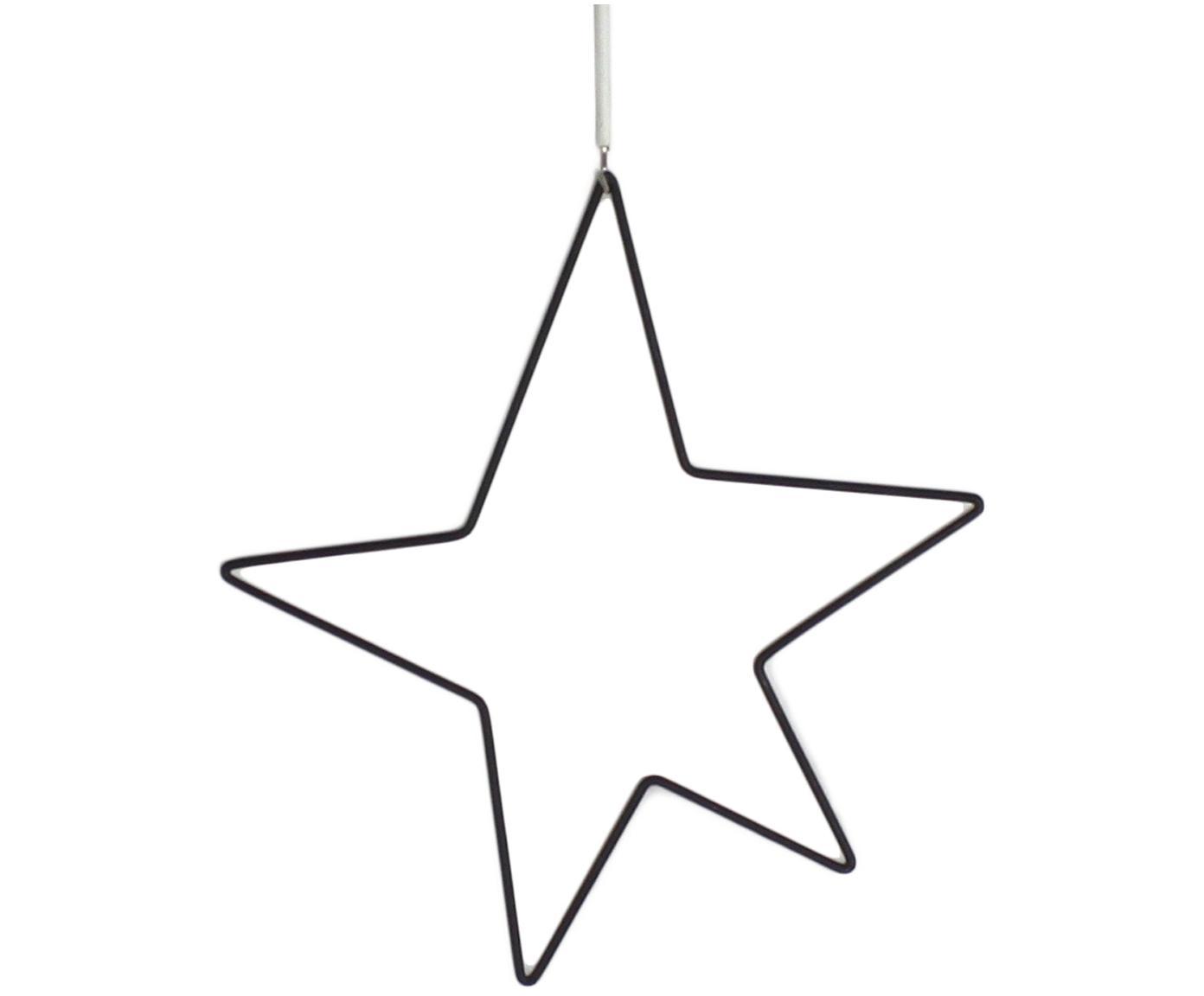 Stella decorativa in metallo Kelia, Nero, Larg. 21 x Alt. 23 cm