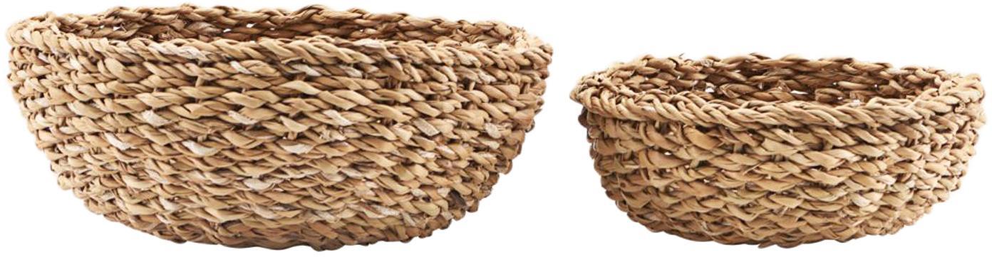 Set 2 cestini per pane in fibra naturale Tango, Alghe, Alghe, Set in varie misure