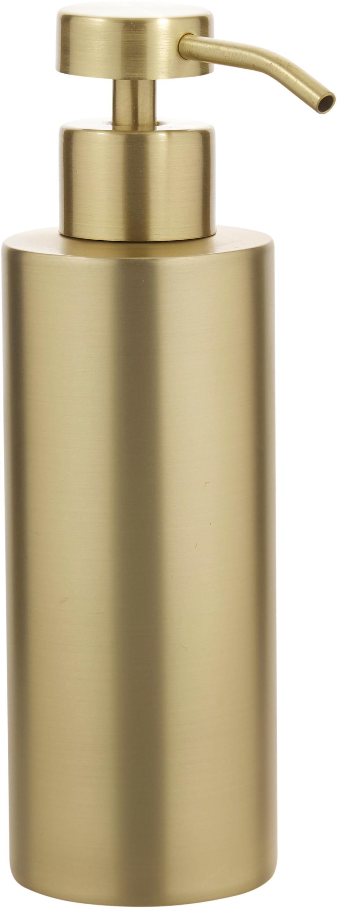 Edelstahl-Seifenspender Onyar, Edelstahl, beschichtet, Messingfarben, Ø 6 x H 18 cm