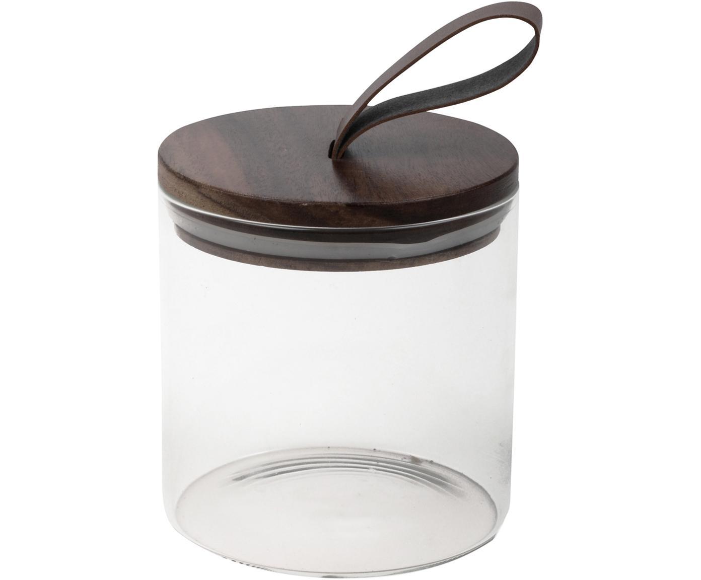 Aufbewahrungsglas Bory, Dose: Borosilikatglas Deckel, Transparent, Braun, Ø 10 x H 12 cm