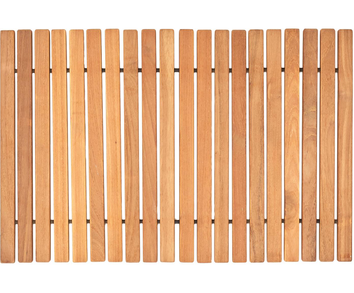 Badmat Anna van teakhout, Teakhout Het product is gecertificeerd teakhout in Indonesië, voornamelijk uit resthout uit de meubelproductie., Bruin, 40 x 60 cm