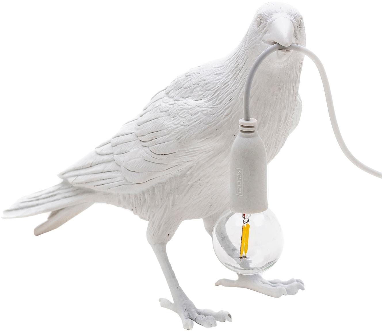 LED tafellamp Bird, Wit, 33 x 12 cm
