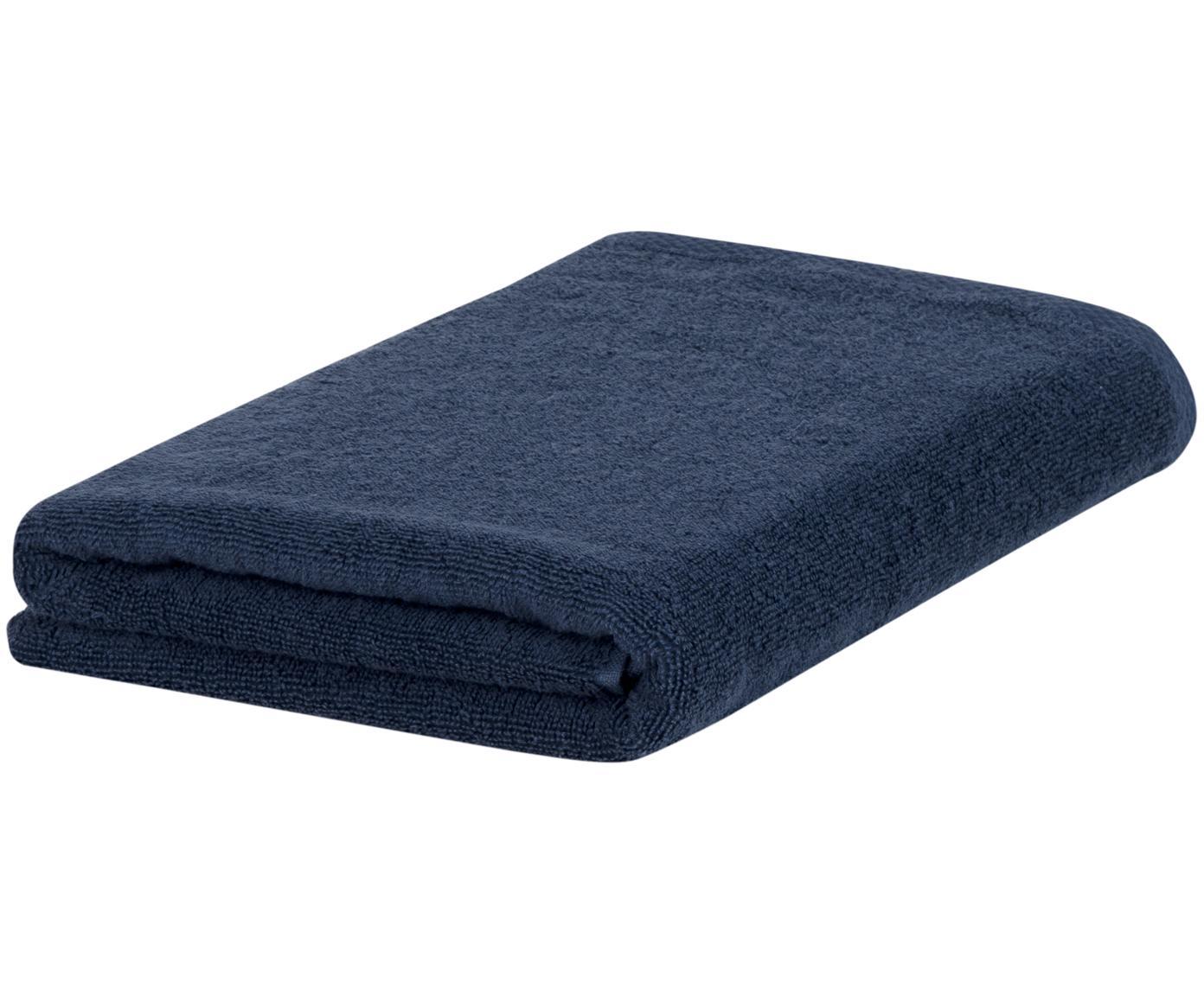 Einfarbiges Handtuch Comfort, verschiedene Grössen, Dunkelblau, Duschtuch