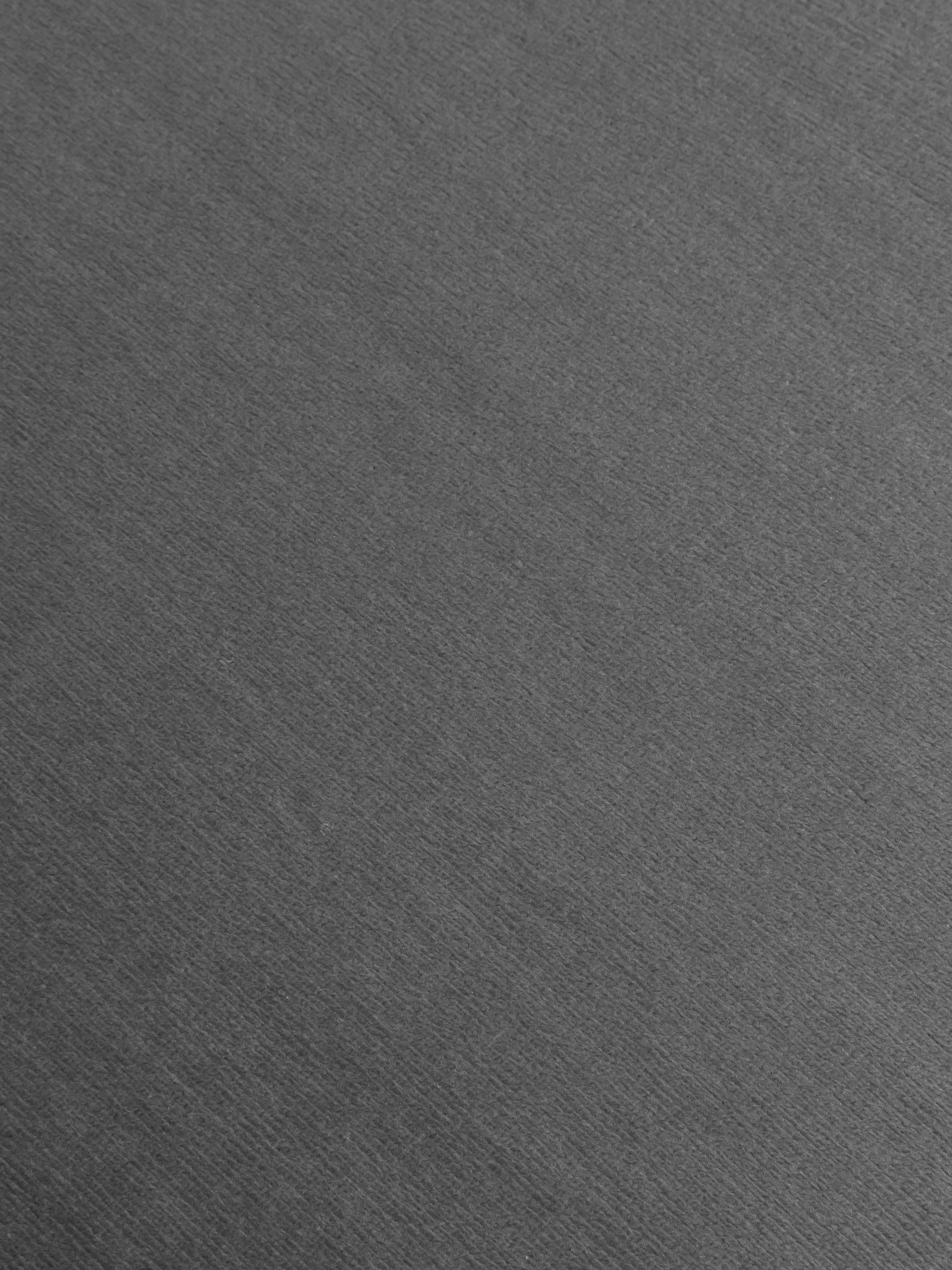 Sedia con braccioli in velluto Rachel, Rivestimento: velluto (poliestere) 50.0, Gambe: metallo verniciato a polv, Rivestimento: grigio chiaro Gambe: nero opaco, Larg. 47 x Prof. 64 cm
