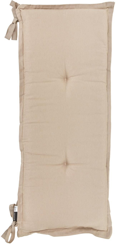 Einfarbige Bankauflage Panama, Bezug: 50% Baumwolle, 45% Polyes, Sandfarben, 48 x 120 cm