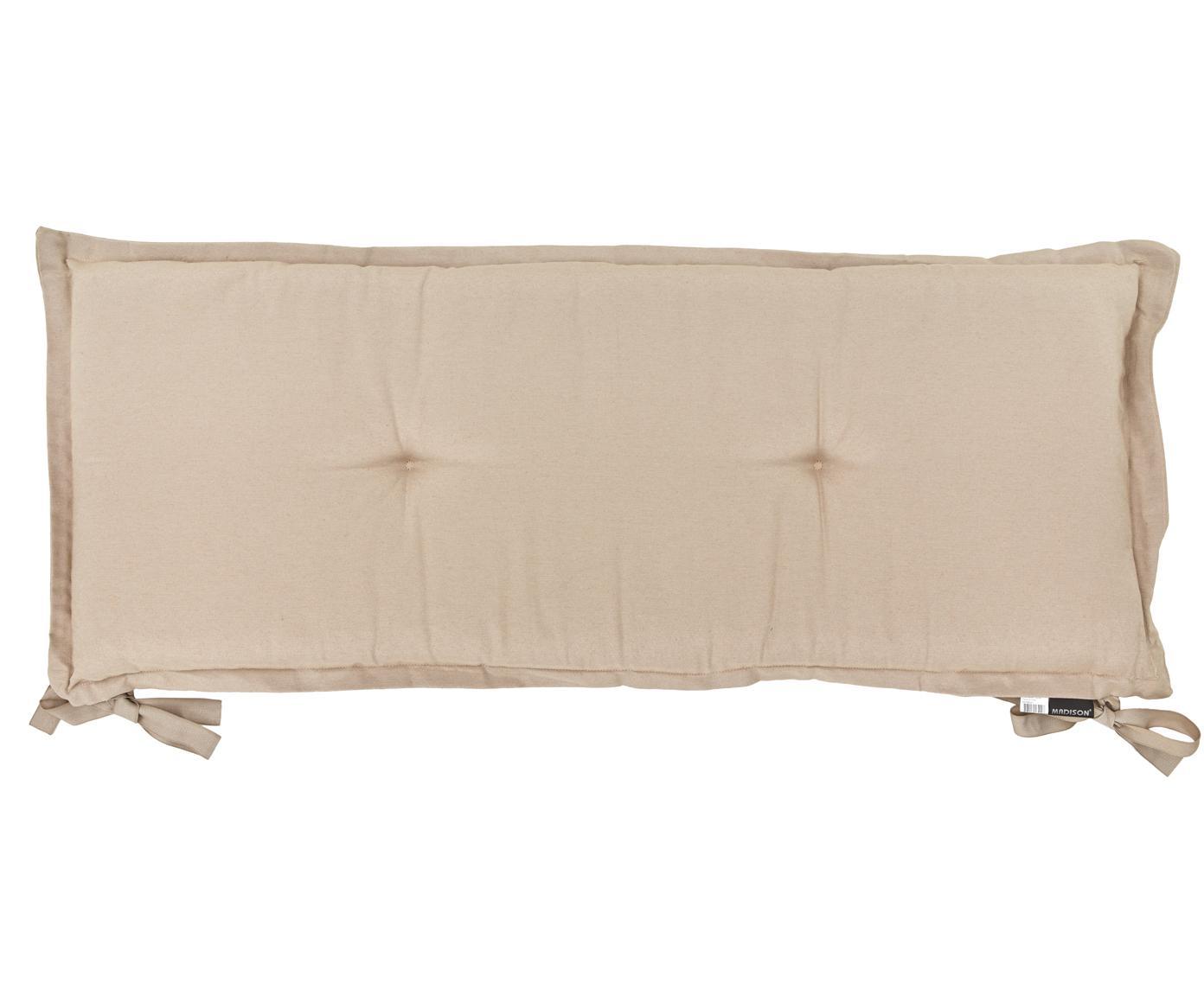 Cojín de banco Panama, Tapizado: 50%algodón, 45%poliéste, Arena, An 48 x L 120 cm