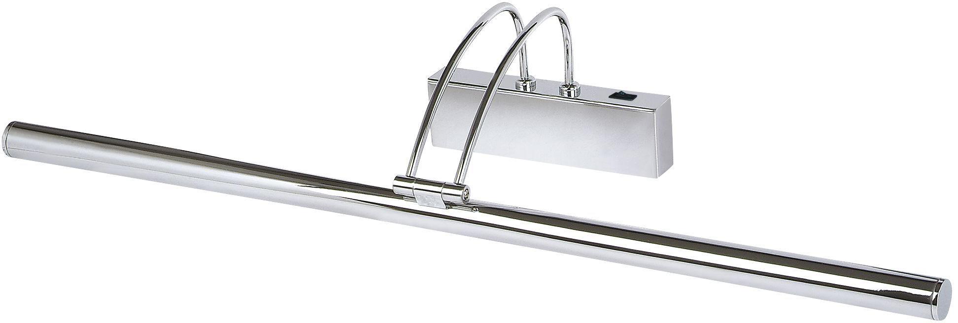LED Bilderleuchte Picture, Stahl, verchromt, Chrom, 68 x 12 cm