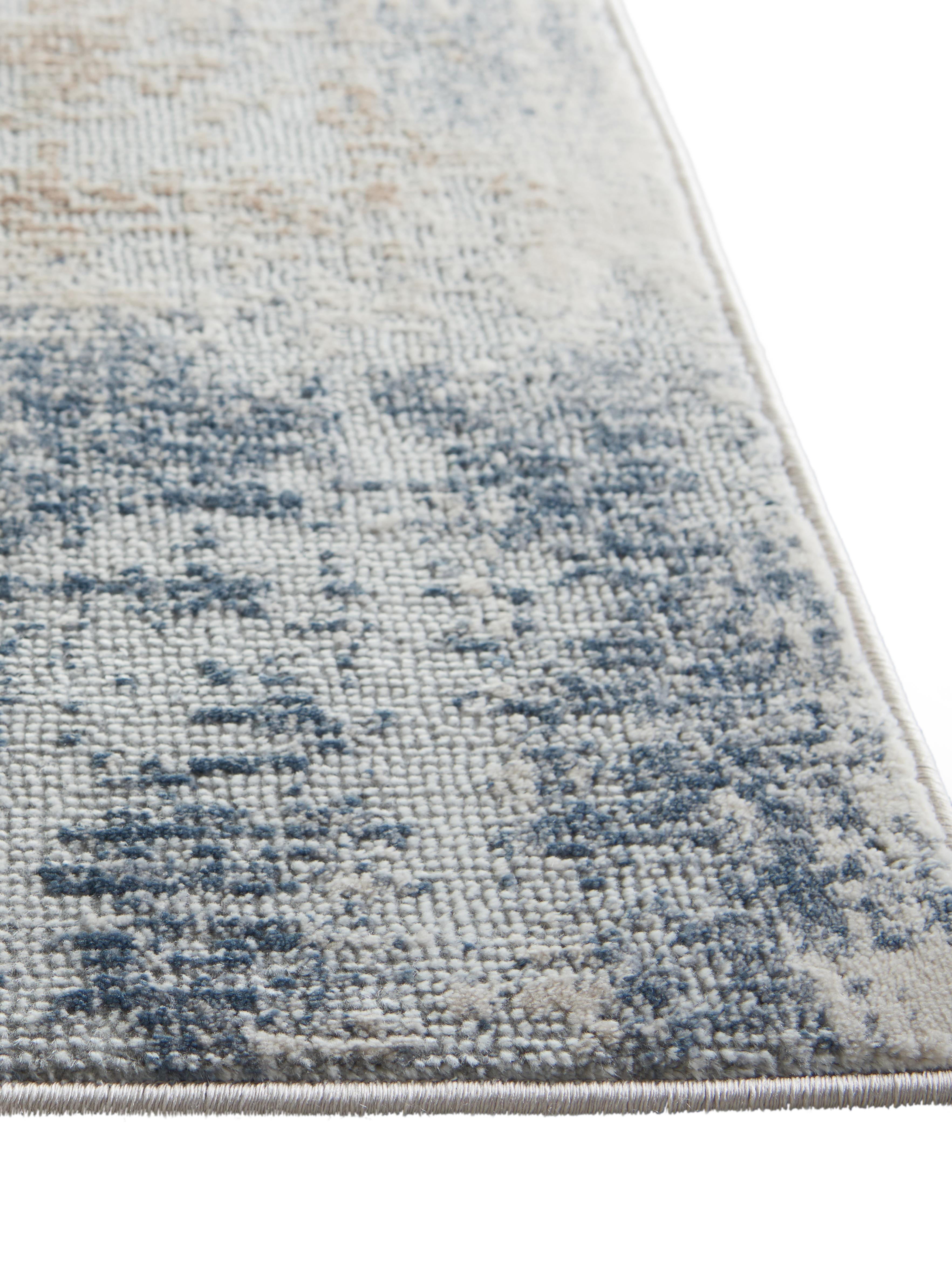 Design Läufer Rustic Textures II, Flor: 51%Polypropylen, 49%Pol, Beigetöne, Grau, 65 x 230 cm