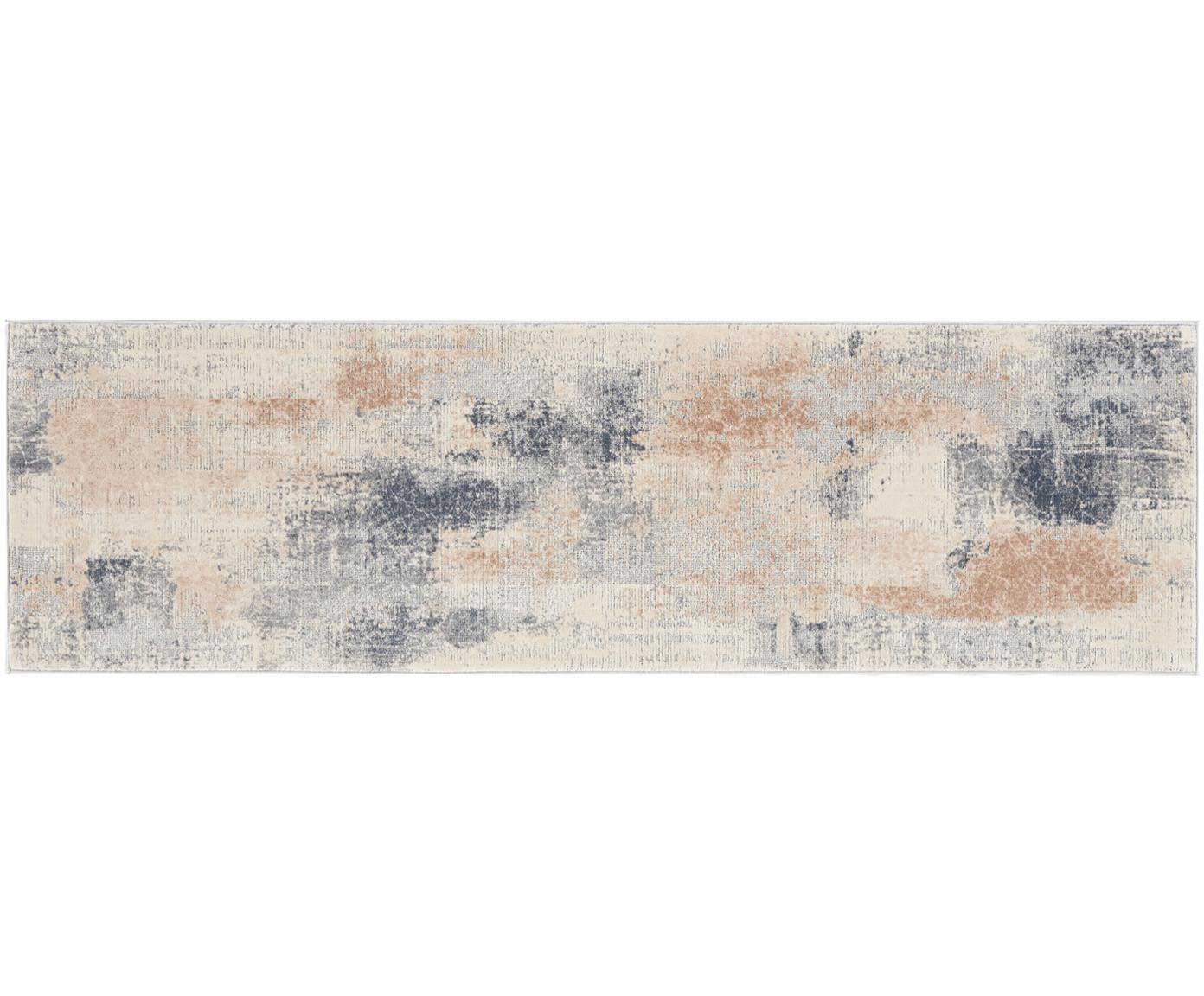 Passatoia a pelo corto Rustic Textures II, Retro: 50%iuta, 50%lattice, Tonalità beige, grigio, Larg. 70 x Lung. 230 cm