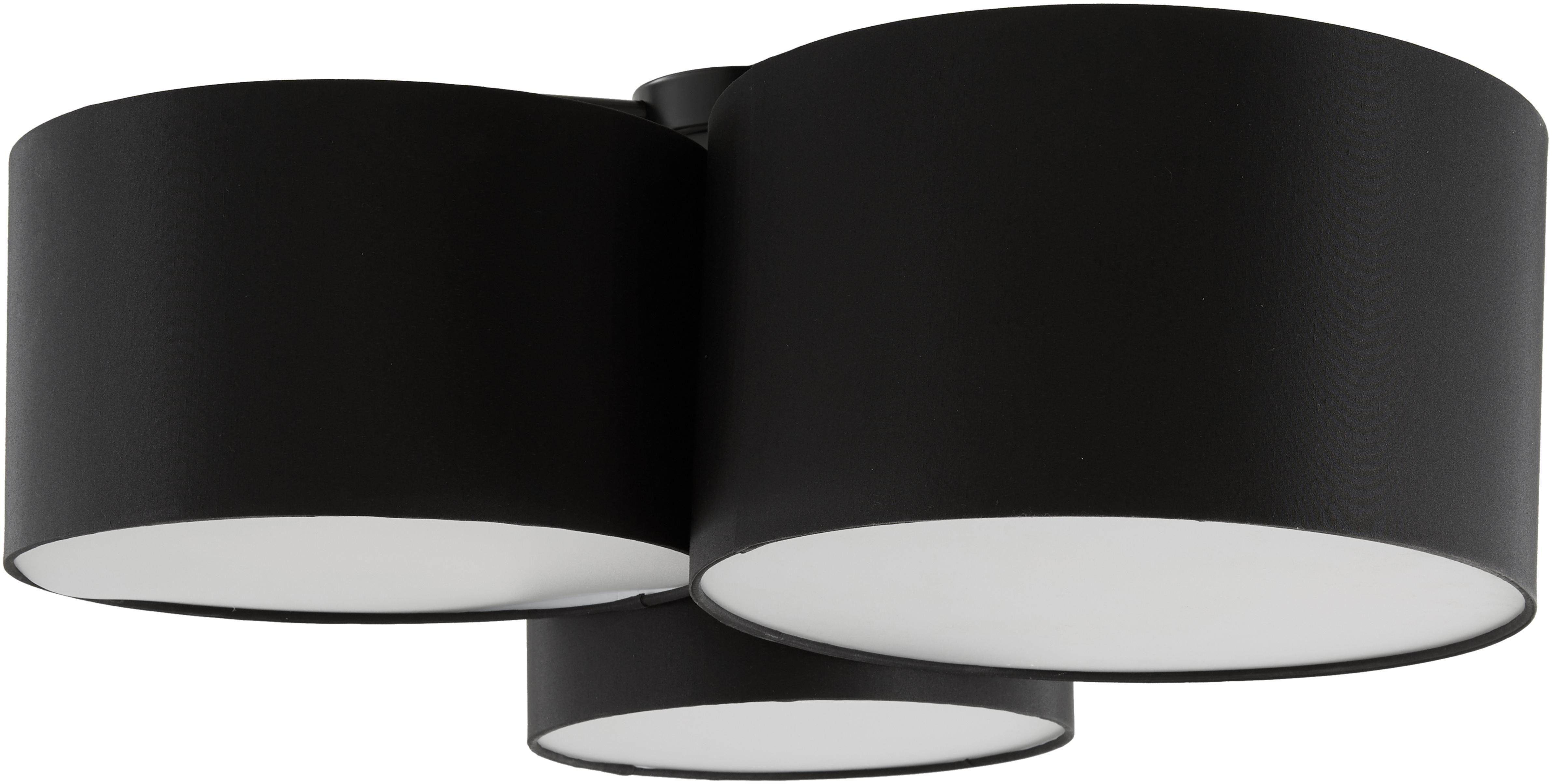 Plafón Luke, Anclaje: metal con pintura en polv, Negro, Ø 61 x Al 26 cm