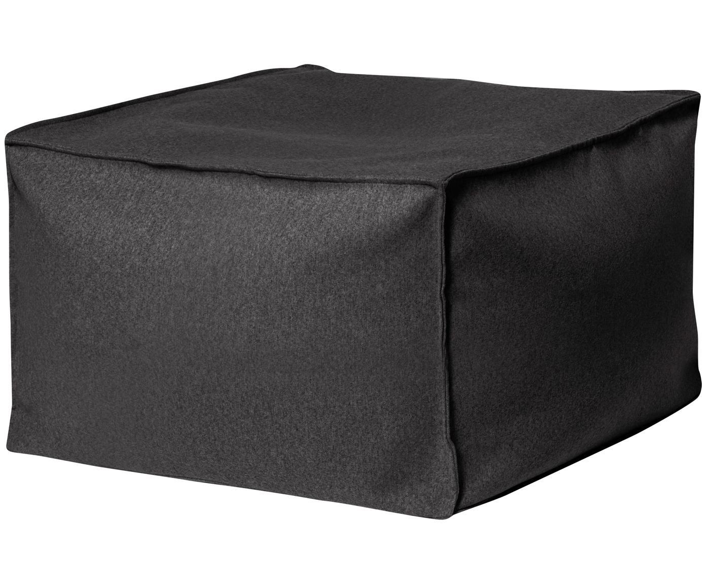 Puf de fieltro Loft Felt, Tapizado: poliéster, Gris antracita, An 60 x Al 45 cm
