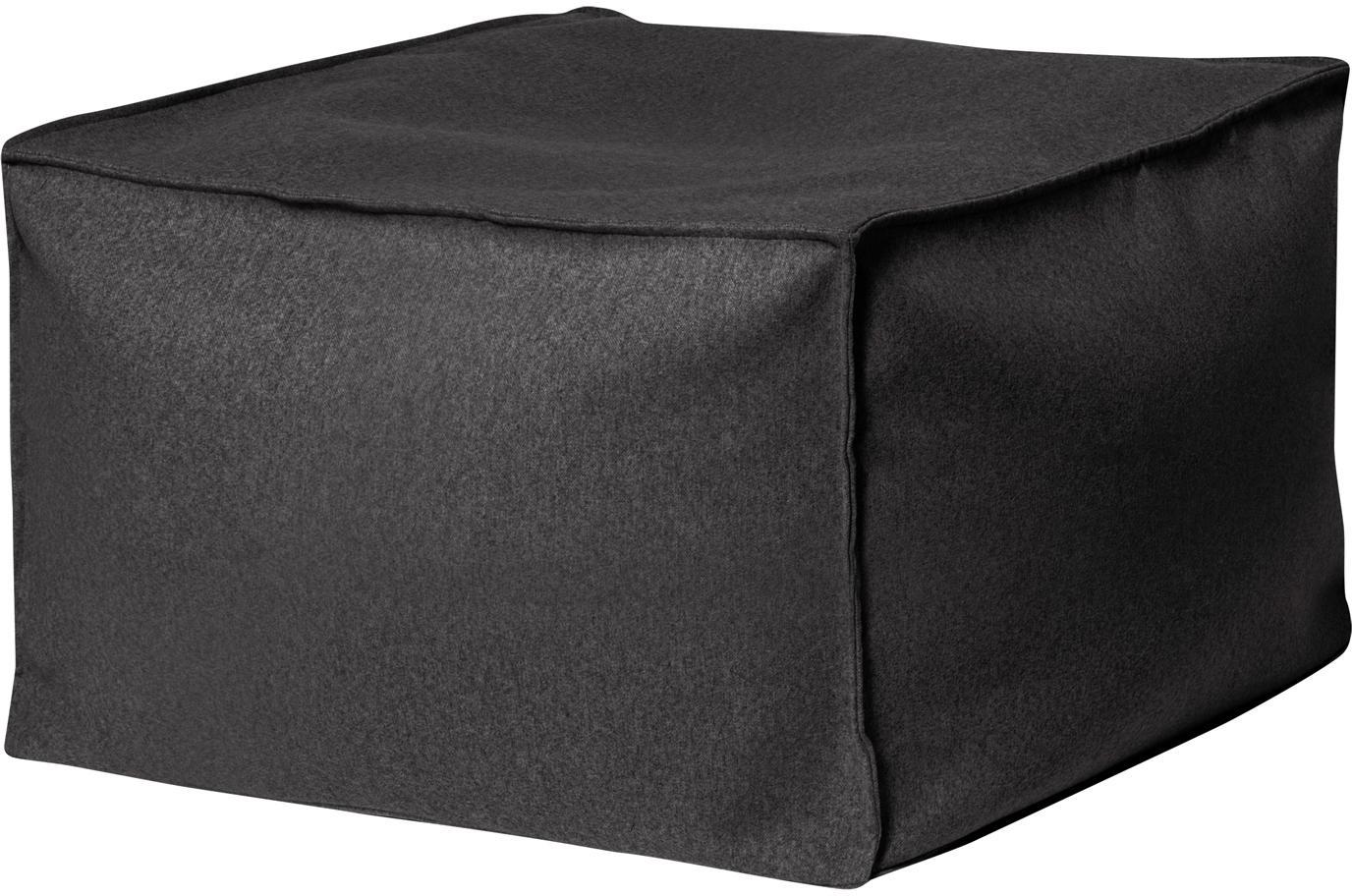 Pouf sacco in feltro Loft Felt, Rivestimento: poliestere, Antracite, Larg. 60 x Alt. 45 cm