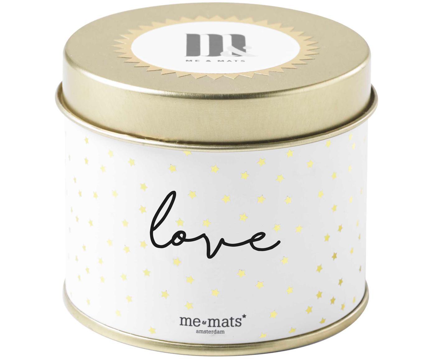 Vela perfumada Love (pomelo, pachulí & sandía), Recipiente: metal, recubierto, Dorado, blanco, negro, Ø 8 x Al 7 cm