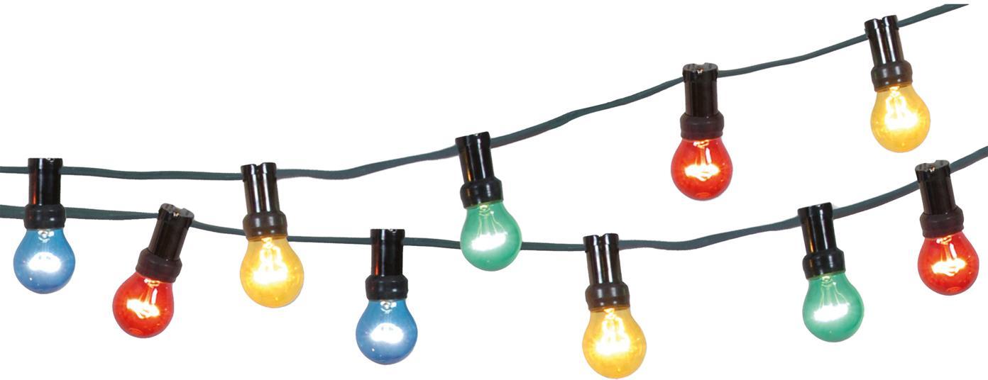 Guirnalda de luces Jubile, Plástico, Multicolor, L 620 cm