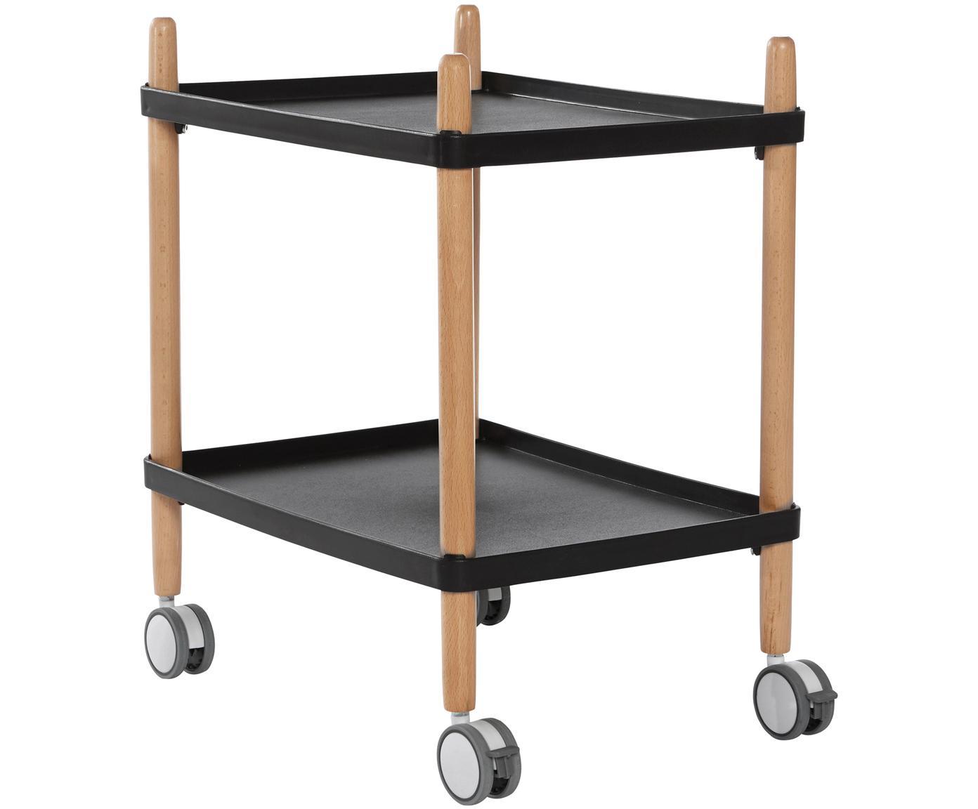 Camarera Åsa, estilo escandinavo, Estantes: polipropileno (plástico), Estructura: madera de haya, Coral, madera de haya, An 50 x Al 60 cm