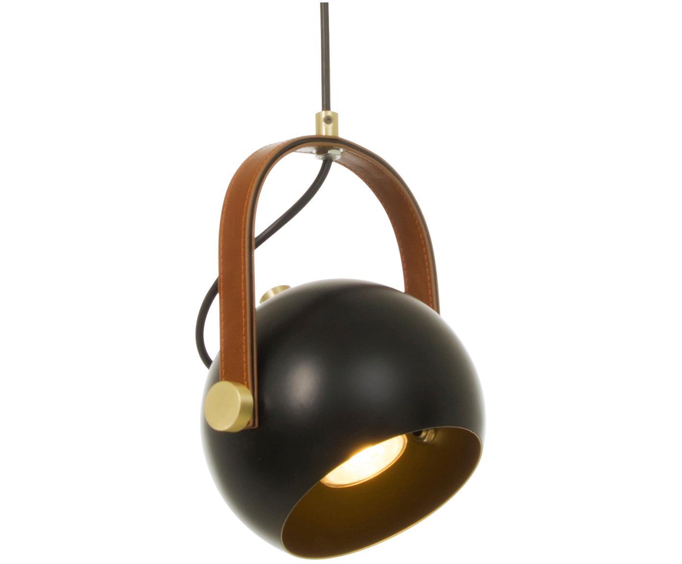 Mała lampa wisząca z regulacją wysokości Bow, Czarny, S 19 x W 20 cm
