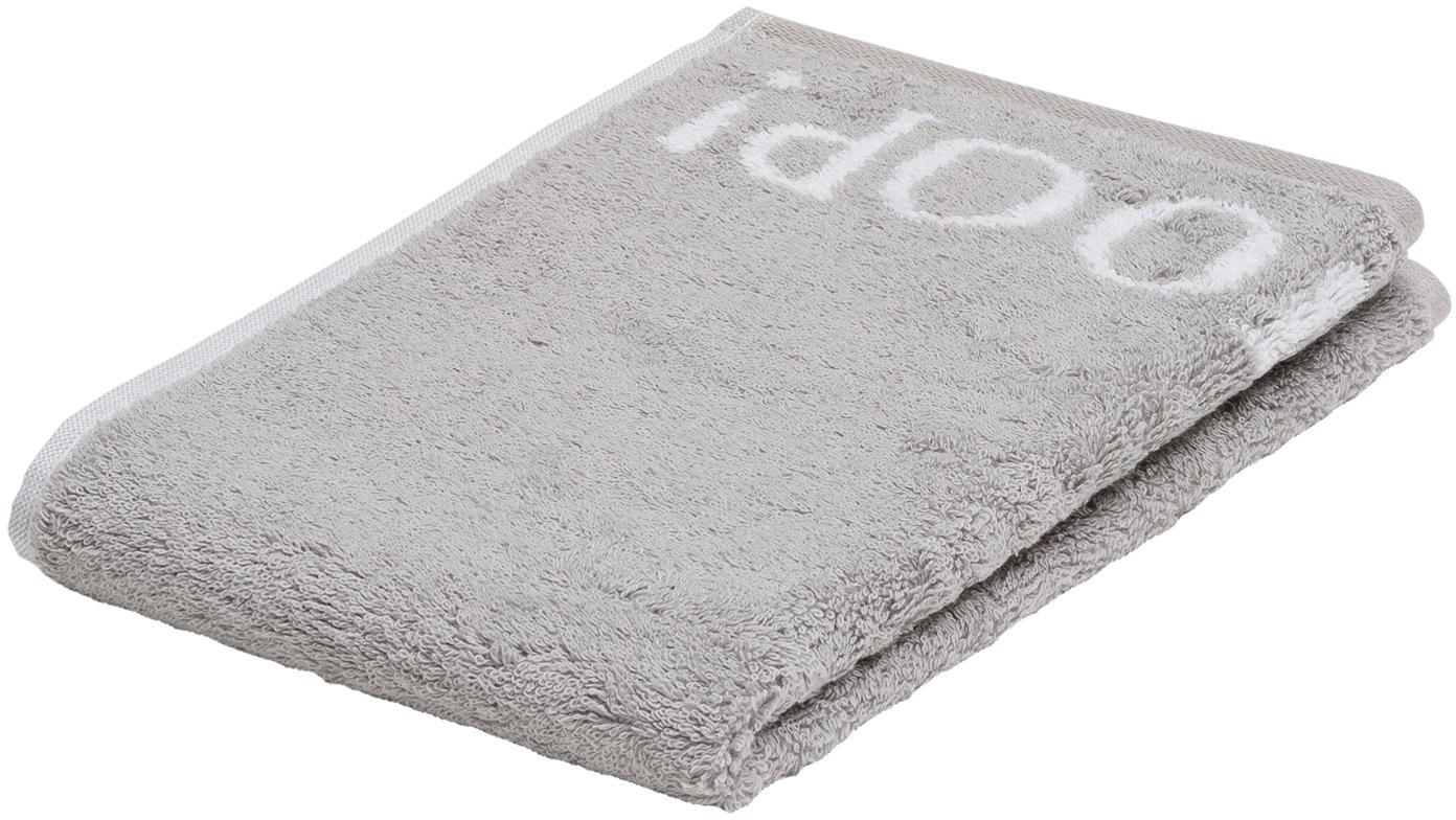 Ręcznik dla gości Classic Doubleface, 3 szt., Srebrnoszary, biały, S 30 x D 50 cm
