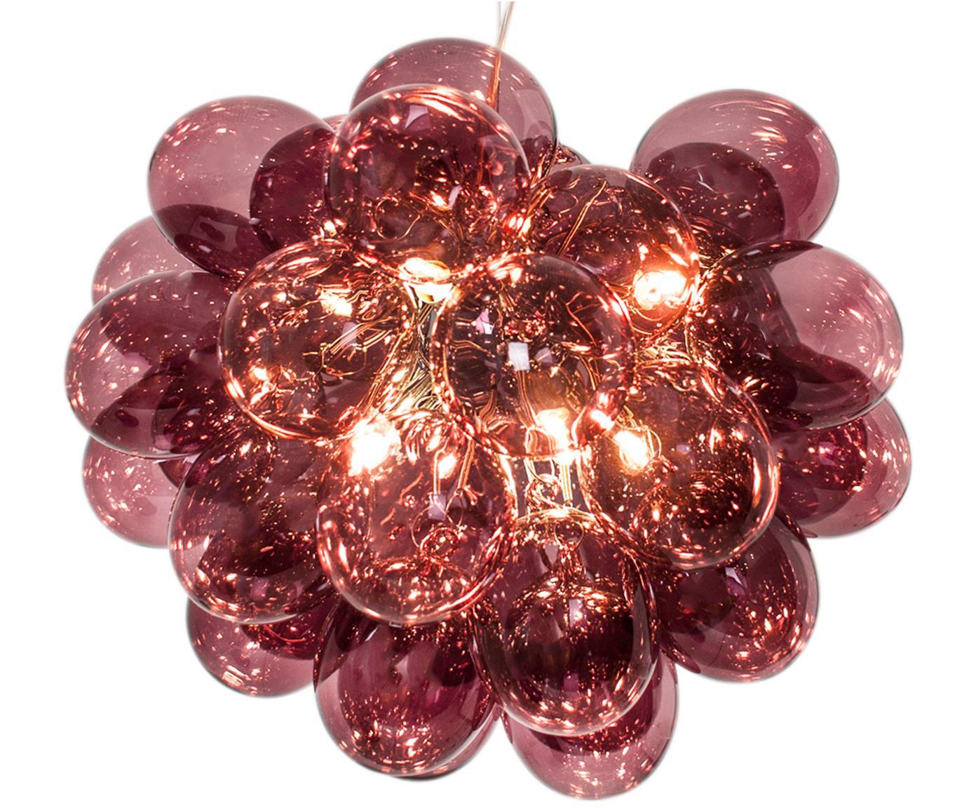 Lámpara de techo Gross, Cable: plástico, Borgoña, Ø 50 x Al 40 cm