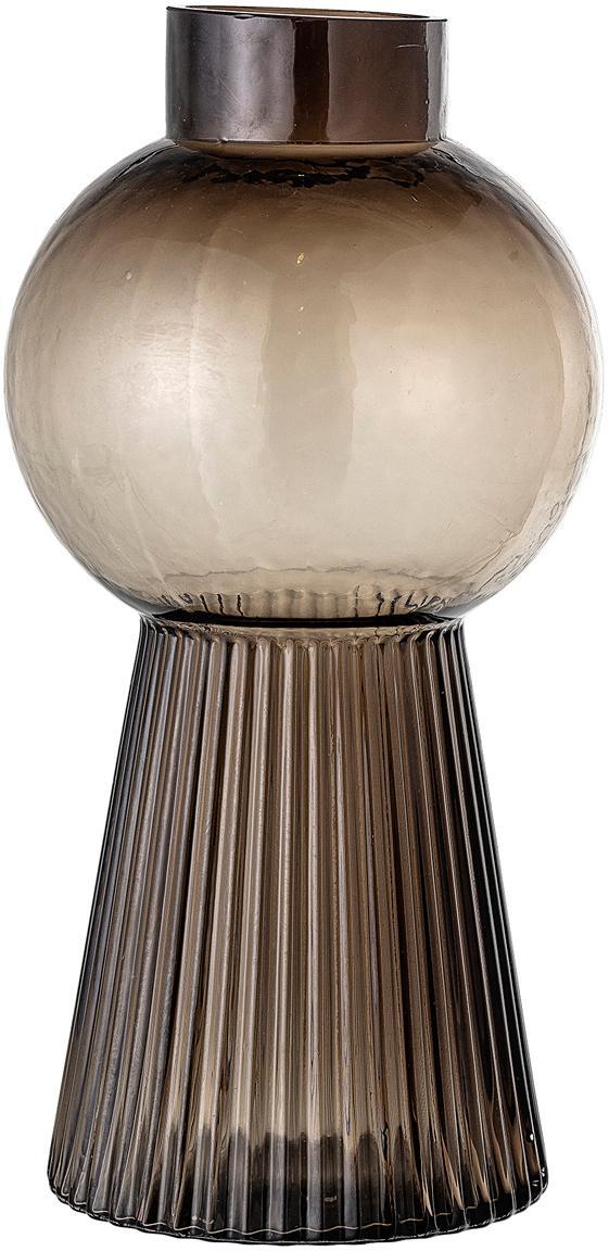Vaso in vetro Mola, Vetro, Marrone trasparente, Ø 17 x Alt. 34 cm