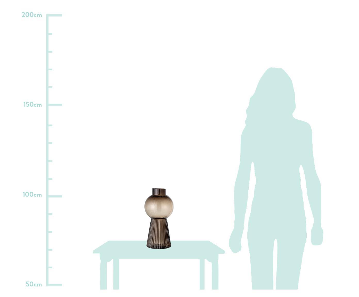 Duży wazon ze szkła Mola, Szkło, Brązowy, transparentny, Ø 17 x W 34 cm