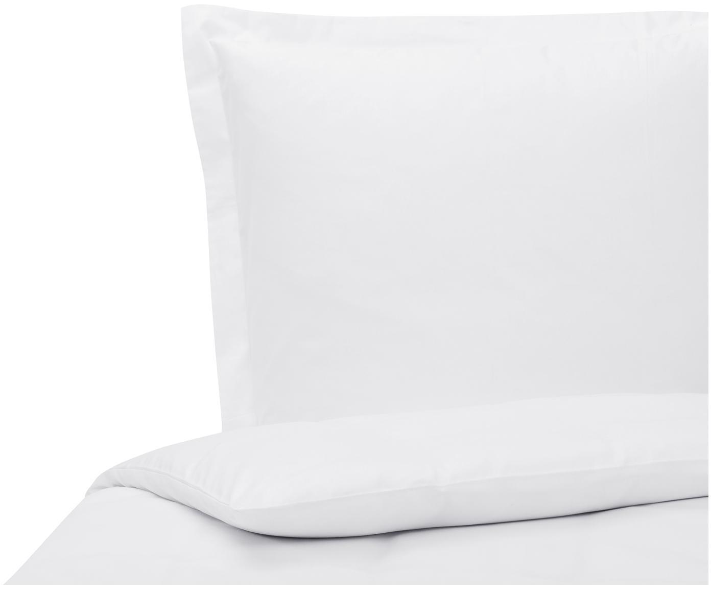 Katoensatijnen dekbedovertrek Premium, Weeftechniek: satijn, licht glanzend, Wit, 140 x 200 cm
