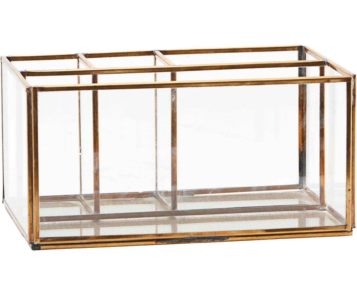 Organizer Sola, Messing, glas, Transparant, messingkleurig, 21 x 13 cm
