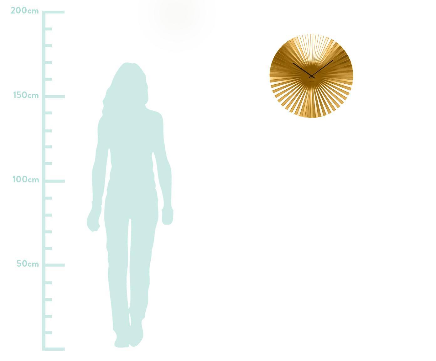 Orologio da parete Sensu, Quadrante: acciaio, verniciato, Puntatore: metallo, Dorato, Ø 50 cm
