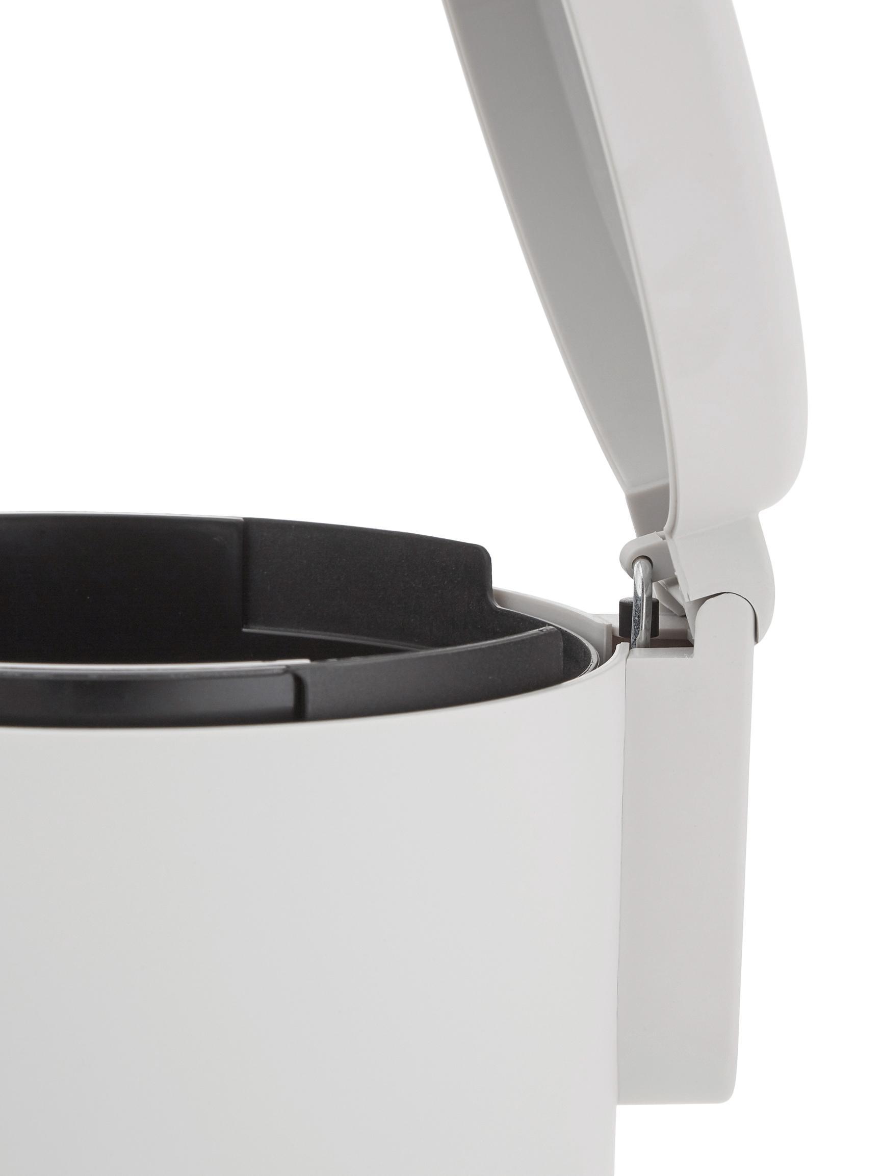 Afvalemmer Ume met pedaal functie, Kunststof (ABS), Lichtgrijs, Ø 20 x H 22 cm