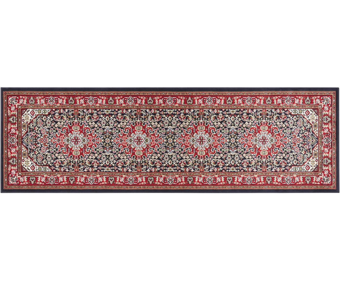 Loper Skazar Isfahan in Oriënt stijl, Polypropyleen, Rood, multicolour, 80 x 250 cm