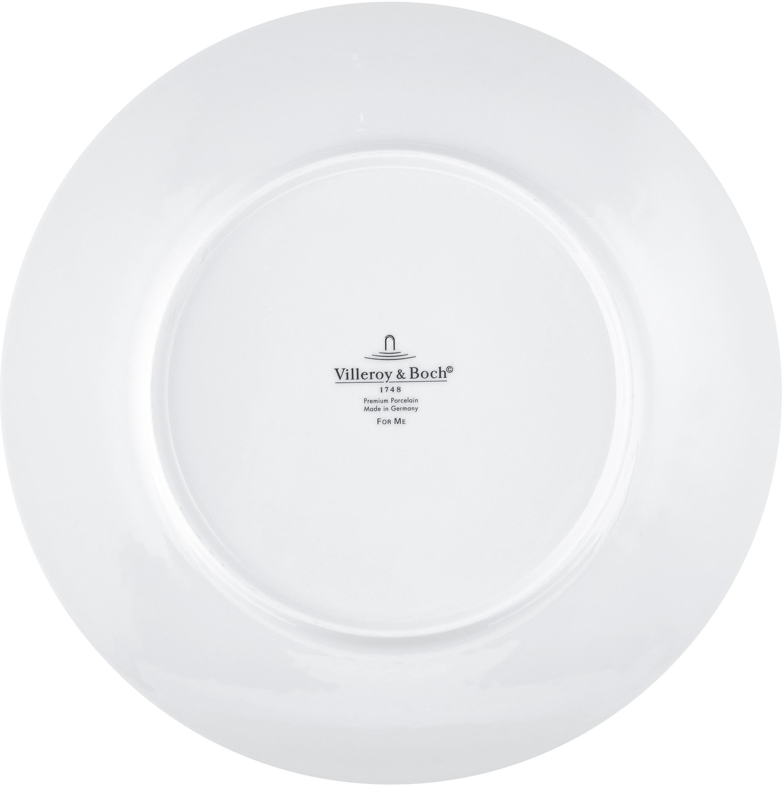 Service de table porcelaine For Me, 4 personnes (8élém.), Blanc