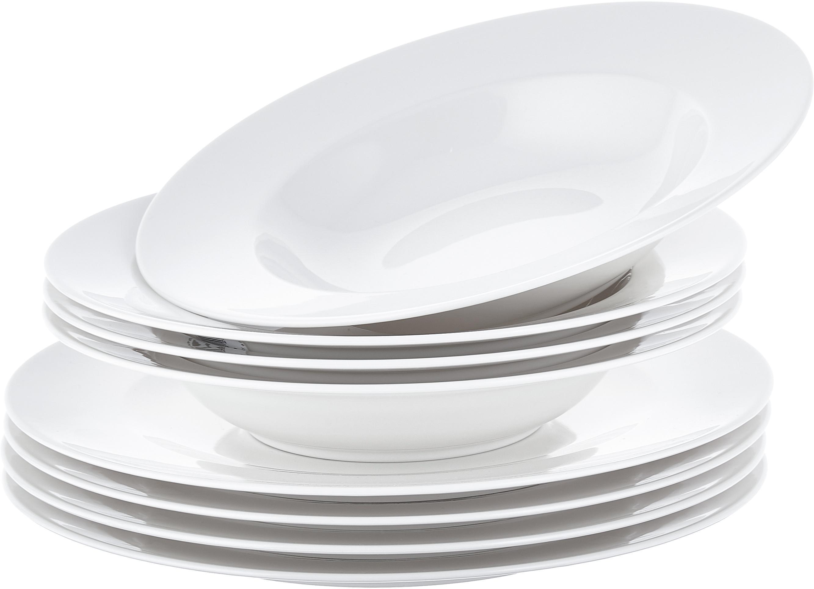 Servizio di porcellana For Me 8 pz, Porcellana, Bianco latteo, Diverse dimensioni