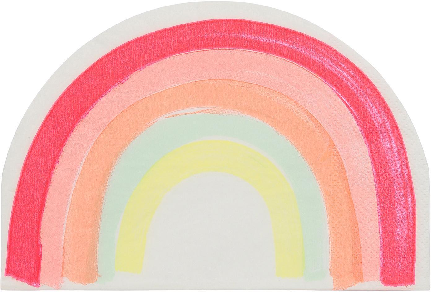 Papieren servetten Rainbow, 20 stuks, Papier, Multicolour, 12 x 17 cm