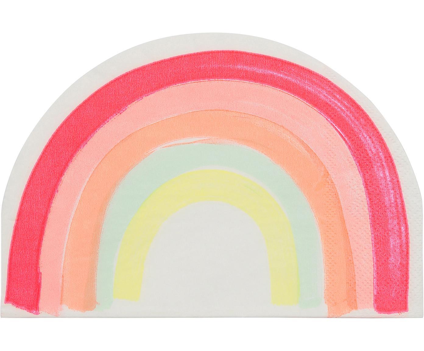 Papier-Servietten Rainbow, 20 Stück, Papier, Mehrfarbig, 12 x 17 cm