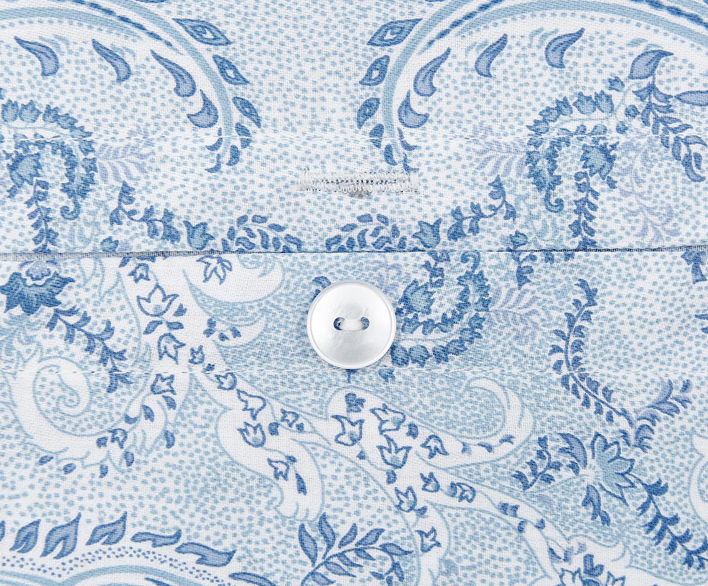 Pościel z satyny bawełnianej Grantham, Niebieski, 240 x 220 cm