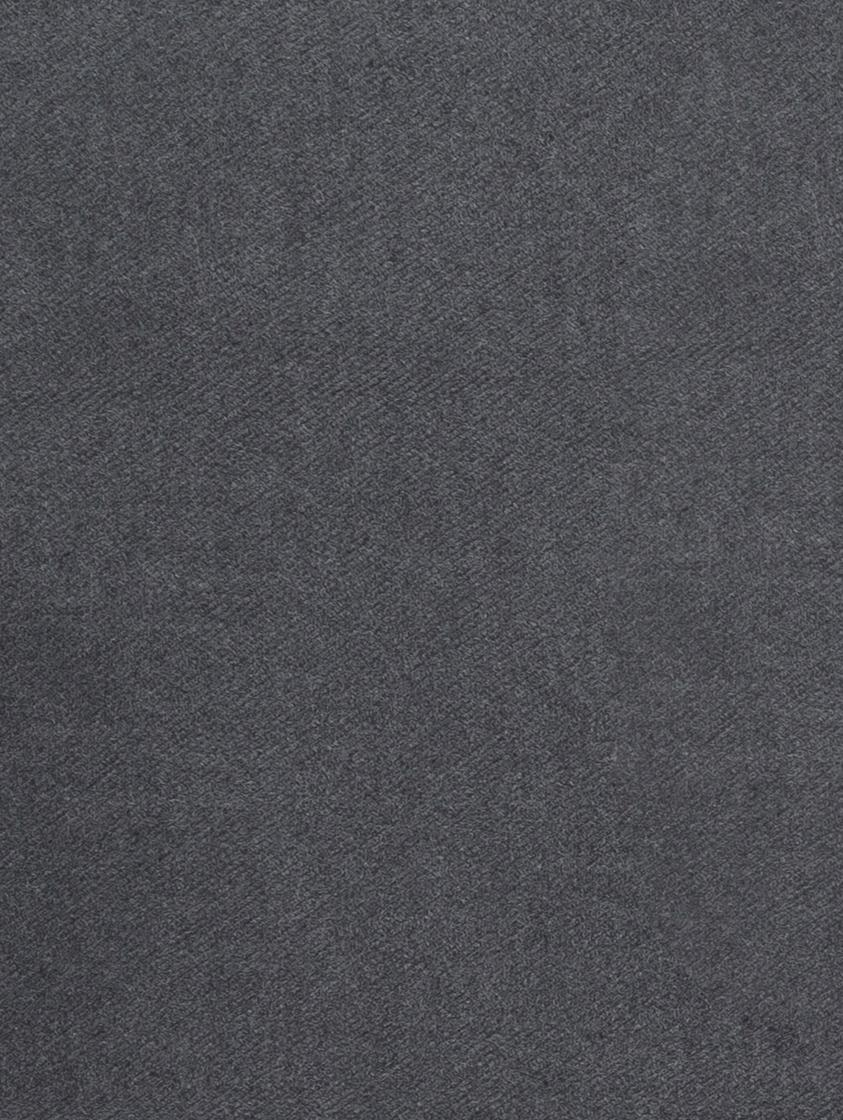 Plaid Plain, 50% Baumwolle, 50% Acryl, Dunkelgrau, 140 x 180 cm