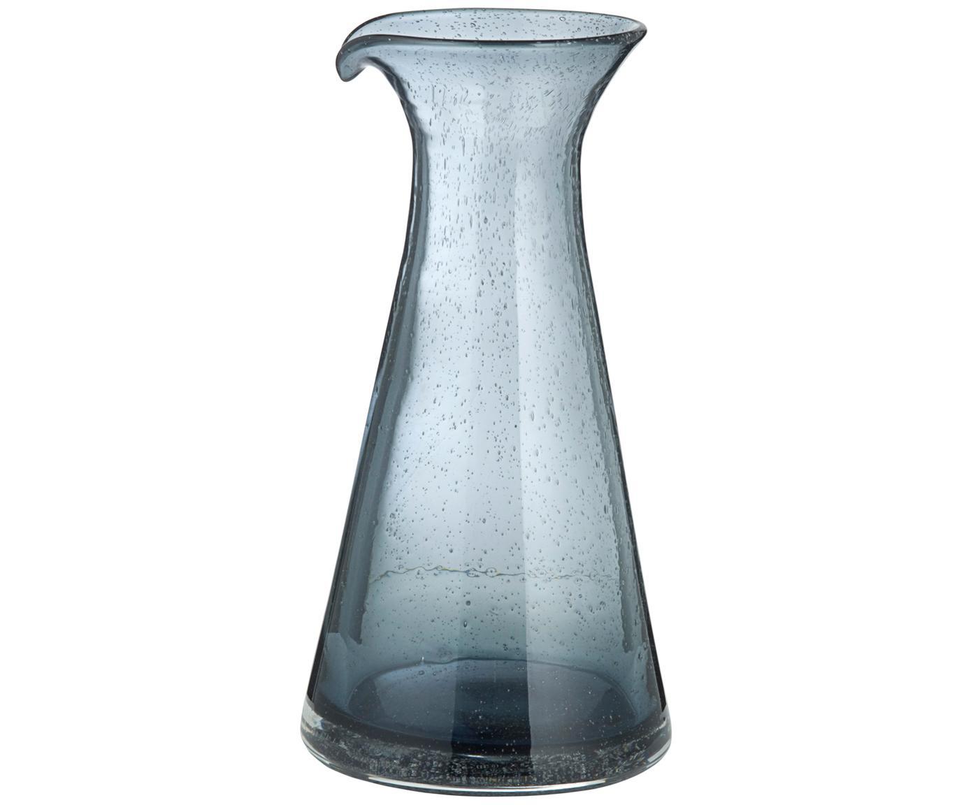Karafka ze szkła dmuchanego Bubble, Szkło, Transparentnyny, szary, 800 ml
