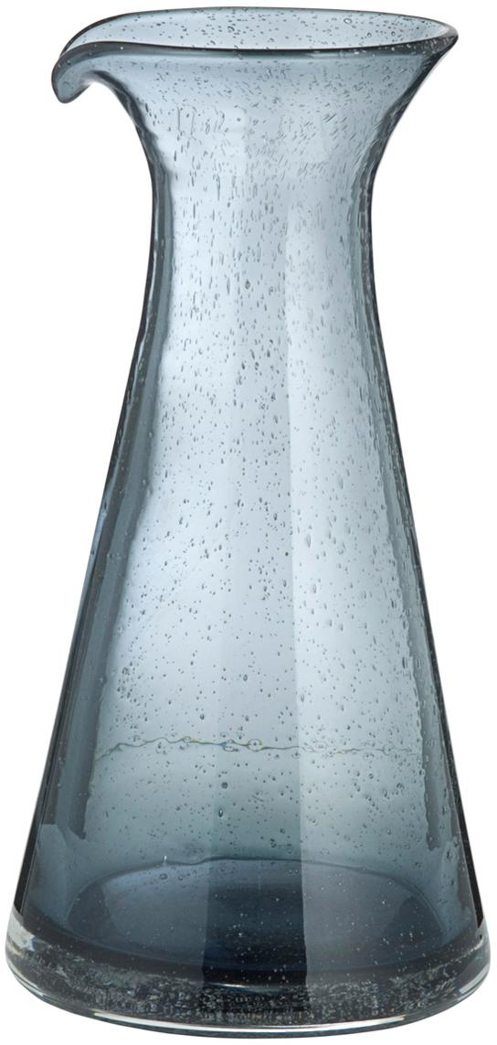 Jarra soplada artesanalmente Bubble, Vidrio, Gris transparente, 800 ml