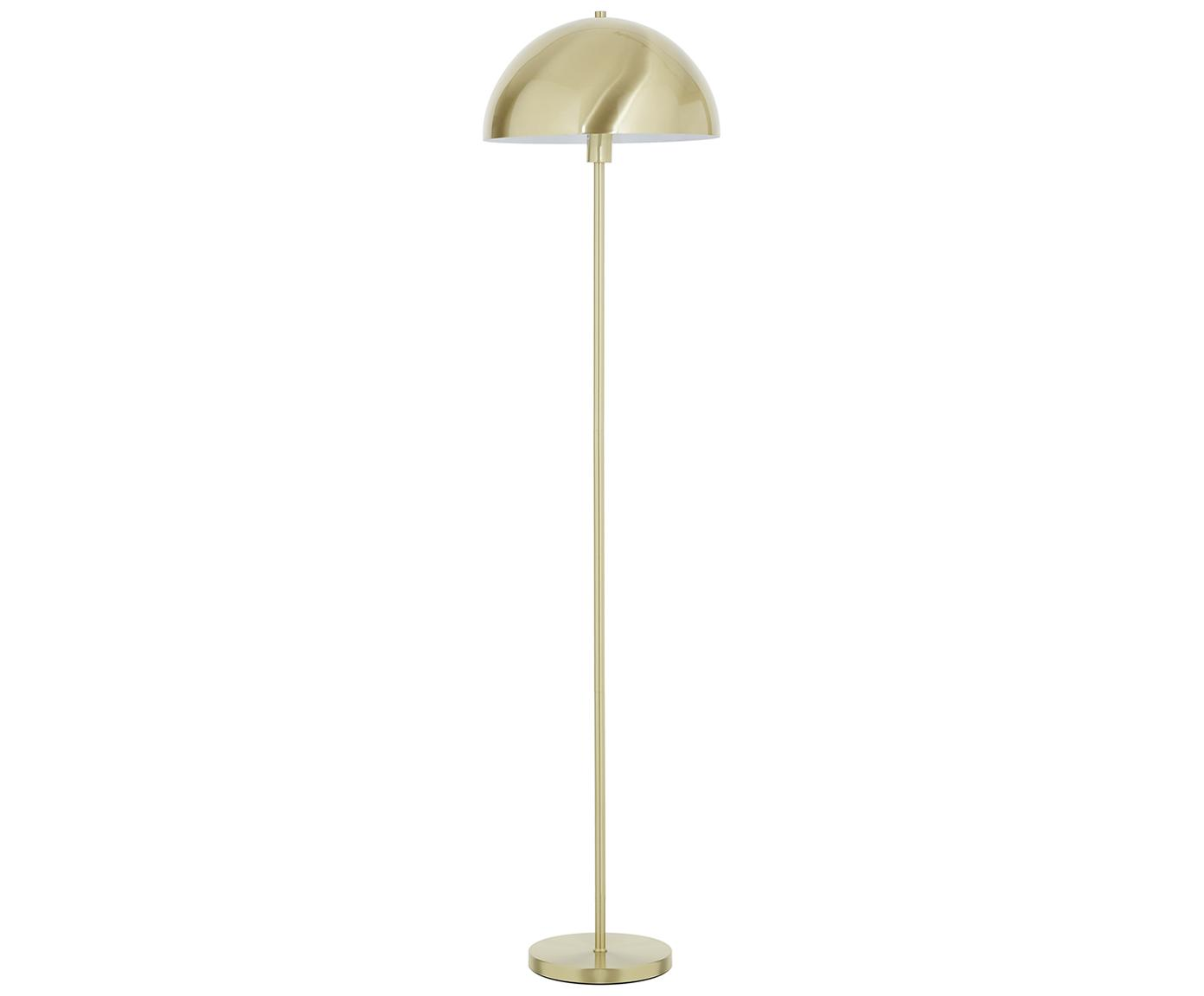 Lámpara de pie Matilda, Pantalla: metal cepillado, Cable: plástico, Latón, Ø 40 x Al 164 cm
