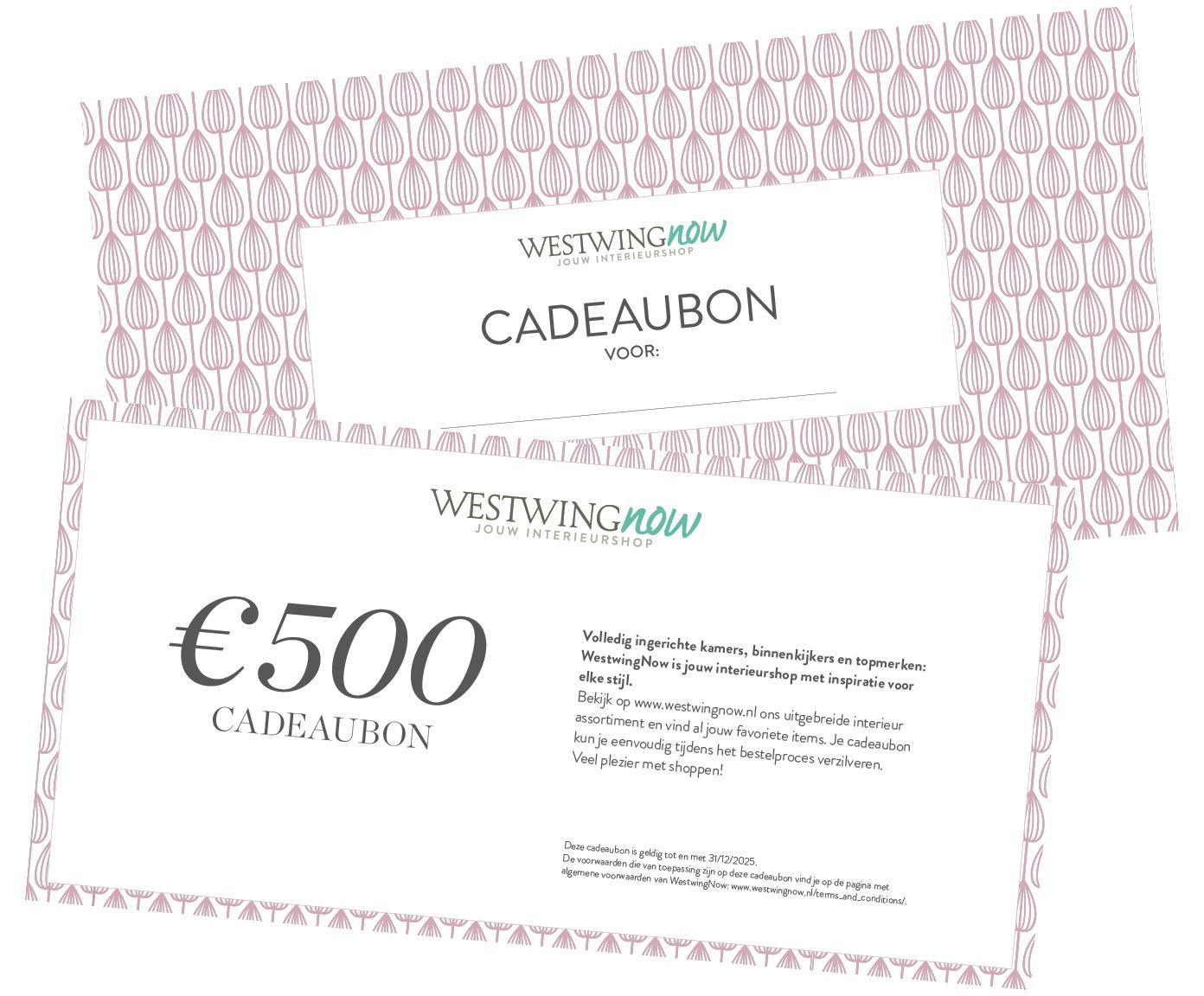 Cadeaubon, Cadeaubon op hoogwaardig papier, Wit, 500