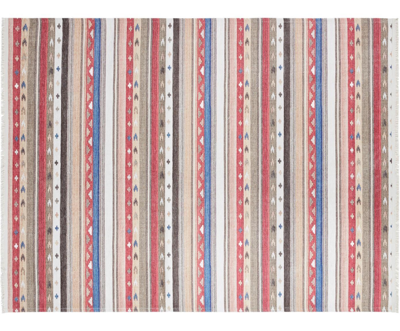 Alfombra kilim Senon, estilo oriental, Parte superior: 50%poliéster, 50%algodó, Reverso: poliéster, Multicolor, An 120 x L 160 cm (Tamaño S)