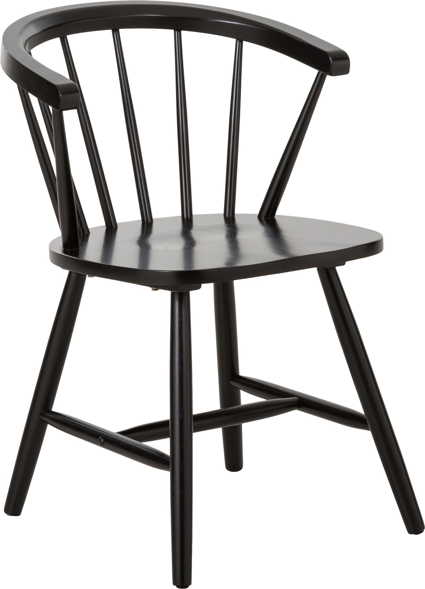 Tisch mit Stuhl aus Holz in schwarz (52 x 49)