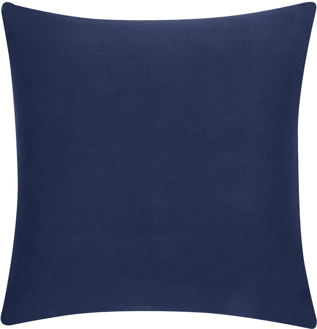 Federa arredo in cotone blu scuro Mads, 100% cotone, Blu navy, Larg. 40 x Lung. 40 cm